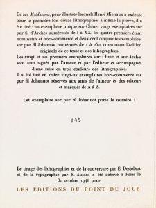 meidosems Henri Michaux librairie la mazarine