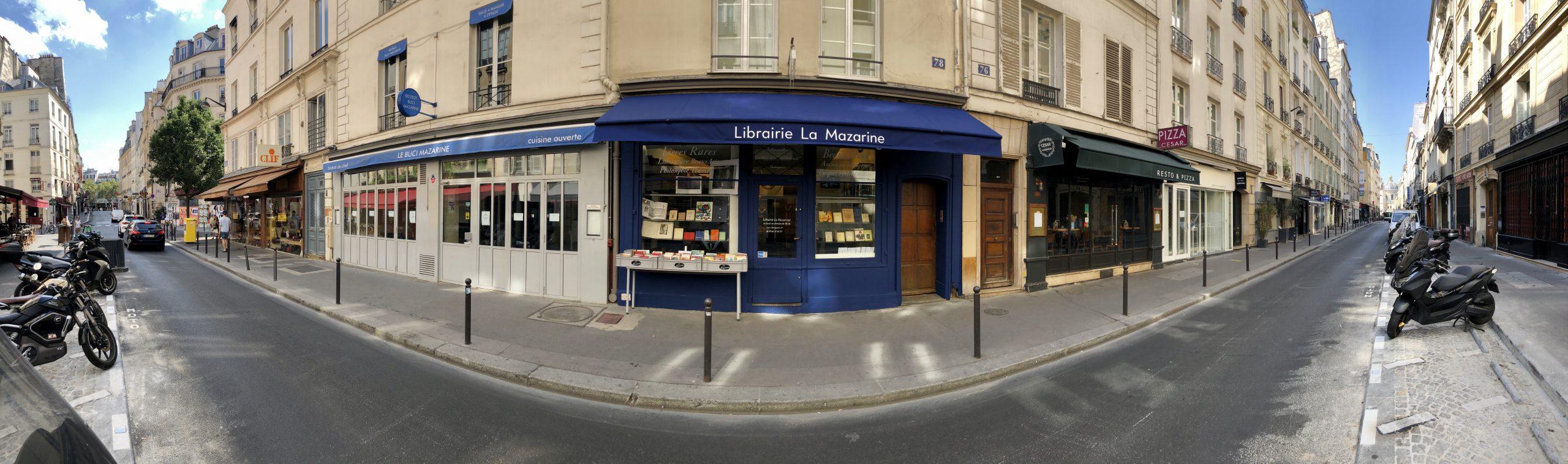 Rue Mazarine librairie devanture facade vitrine